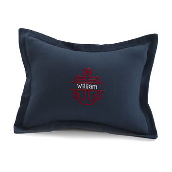 Navy Solid Baby Pillow Sham