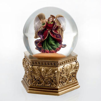 Golden Opulence Angel Water Globe by San Francisco Music Box Factory
