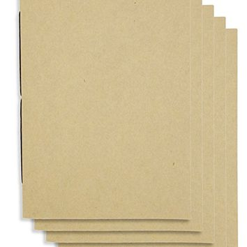 (Set of 5) Dot Grid Handmade 4 x 6 inches Notebook / Plain Blank Cover / 60 Dot Page | Lay Flat Binding | Cream Pape