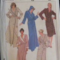 SALE Uncut 1980's Simplicity Sewing Pattern, 7655! Size Medium, Women's/Misses, Robes/Bath Robes/House Robe
