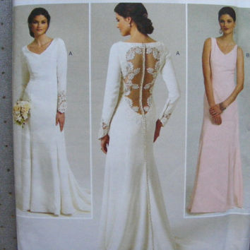 Butterick sewing pattern 5779 for misses' size 12-20 wedding gown, wedding dress, formal gown, formal dress.