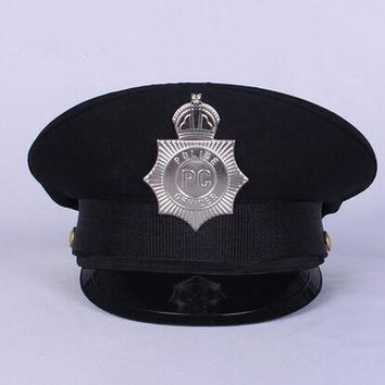 black police hat cosplay police accessories military hat uniform cap police uniform hat halloween party supplies