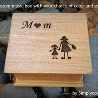 Mom, music box, wooden music box, mother of the bride music box, custom music box, wedding music box, gift for mom, personalized music box