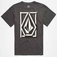 Volcom Interlink Boys T-Shirt Heather Black  In Sizes