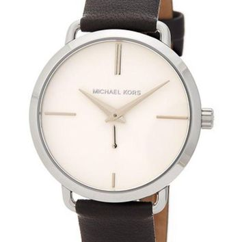 MICHAEL Michael Kors | Women's Portia Leather Strap Watch | Nordstrom Rack