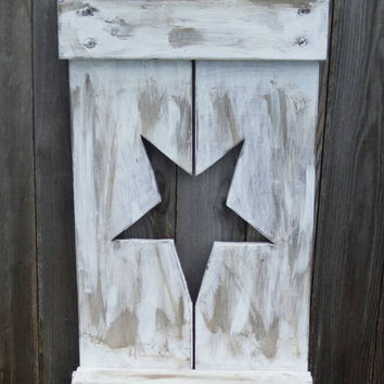 Rustic shelf - rustic star - primitive shelf - rustic decor - primitive decor - country decor