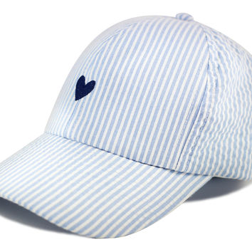 Blue Seersucker Cap | Love Your Melon
