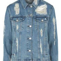 MOTO Rip Extreme Denim Jacket