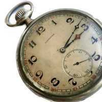 Vintage Swiss Longines Pocket Watch Mechanical Functional Best Price