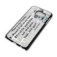 LILO AND STITCH QUOTES Disney Cover Samsung Galaxy S3 S4 S5 S6 Edge Note Mini Case