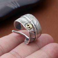 2016 Takahashi Goro live on Eagle Feather LOVE ring Real 925 sterling silver 925 for men or women wedding ring fine jewelry GR91