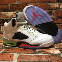 "Air Jordan 5 Retro AJ5 ""White/Infrared"" 23 136027-115 Sneaker Shoes US7-13"