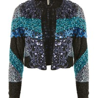 Colour Block Sequin Jacket - New In Fashion - New In