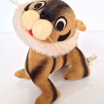 Vintage Tiger Stuffed Toy