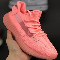 Adidas yeezy Boost 350v2 Hollow knitted breathable running shoes