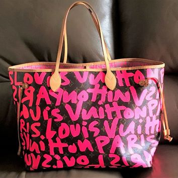 Authentic Louis Vuitton Limited Edition Stephen Sprouse Graffiti Neverfull GM