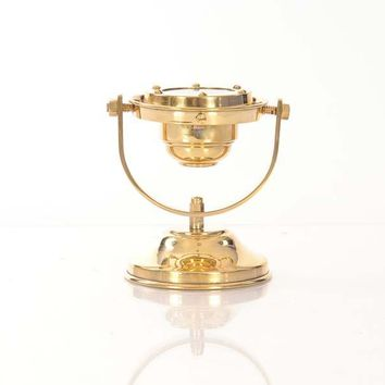 Gimbaled Compass Hancrafted Nautical Decor