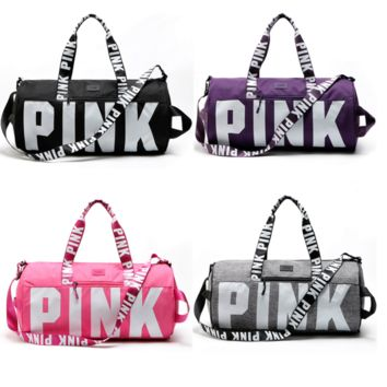 "Victoria's secret ""Pink"" Sports and fitness yoga with short travel bag"