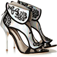 Sophia Webster | Leoni holographic leather sandals | NET-A-PORTER.COM