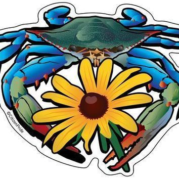 Blue Crab & Black-Eyed Susan / Sticker