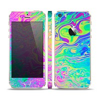 The Neon Color Fushion Skin Set for the Apple iPhone 5s