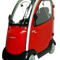 Shoprider Flagship Enclosed Scooter, Red