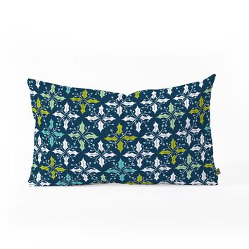 Heather Dutton Holly Go Lightly Midnight Oblong Throw Pillow