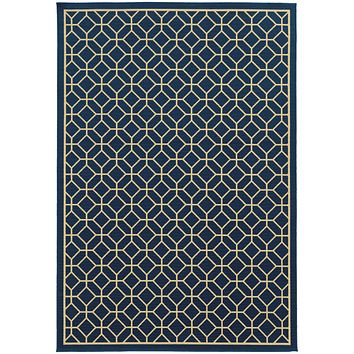 4771G Riviera Indoor/Outdoor Rug Blue/Ivory