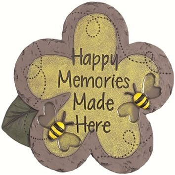 SheilaShrubs.com: Decor Stepping Stone Happy Memories 11116 by Carson Home Accents: Garden Stones
