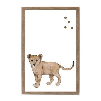 Baby Jungle Animals Baby Lion Magnet Board