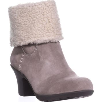 Anne Klein Heward Cuffed Ankle Winter Boots, Taupe/Taupe, 9.5 US
