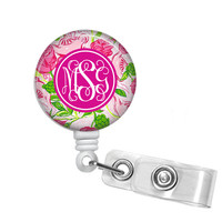 Delta Zeta Monogrammed Retractable Badge Reel