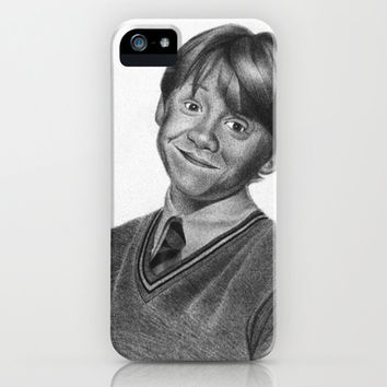 Ron Weasley Graphite iPhone & iPod Case by jsanmateo