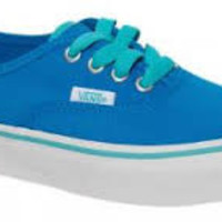 Vans K Authentic(Pop Laces)Neon Blue