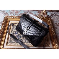 YSL SAINT LAURENT WOMEN LEATHER HANDBAG SHOULDER BAG