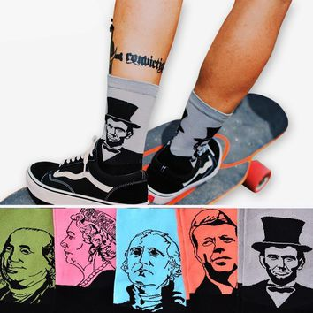 Cotton Crew 3D Print Design Skate Sock