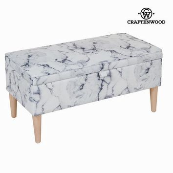 Marble storage bench by Craften Wood