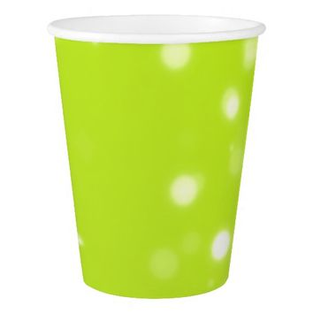 Lime Green Confetti Background Paper Cup