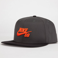 Nike Sb Performance Mens Snapback Hat Charcoal One Size For Men 23224511001