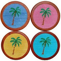 Palm Tree Coasters in Multicolor by Smathers & Branson