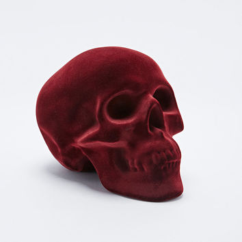 Velvet Skull Money Bank in Red - Urban Outfitters