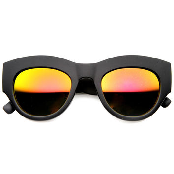 AMBER LIGHTS MATTE REVO MIRROR SUNGLASSES