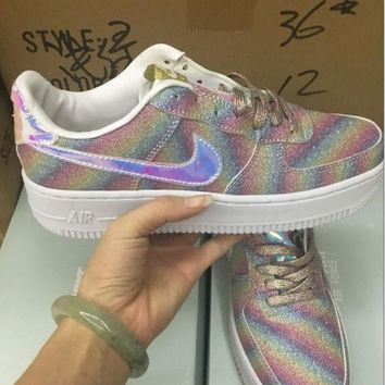 """NIKE""AIR Fashion Women Running Sport Casual Shoes Sneakers Shining Rainbow color"
