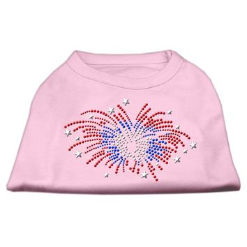 Fireworks Rhinestone Dog Shirt Light Pink