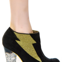 Irregular Choice Honey Blossom Ankle Boots Black