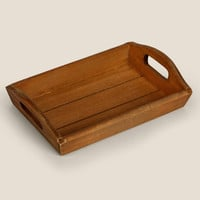 Japan Style Hand-made Rectangle Wooden Tray Solid Wood Antique Serving Plate