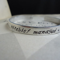 Mischief Managed The Mauraders Map Aluminum Bracelet Cuff - Harry Potter Geekery