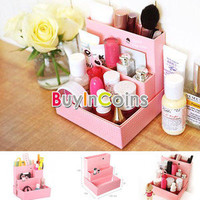 DIY Paper Board Storage Box Desk Decor Organizer Stationery MakeUp Cosmetic HK