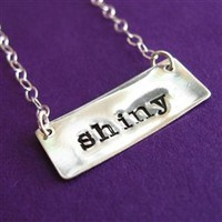 Firefly Shiny Sterling Silver Necklace - Spiffing Jewelry