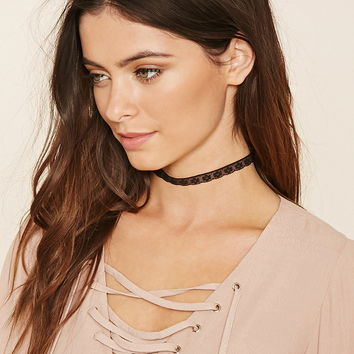 Sheer Floral Lace Choker